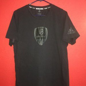 Adidas USA Volleyball Unisex Large Black Tshirt